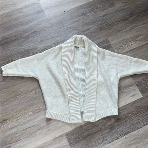 Aerie Gold Sparkled Oversized Pullover Sweater